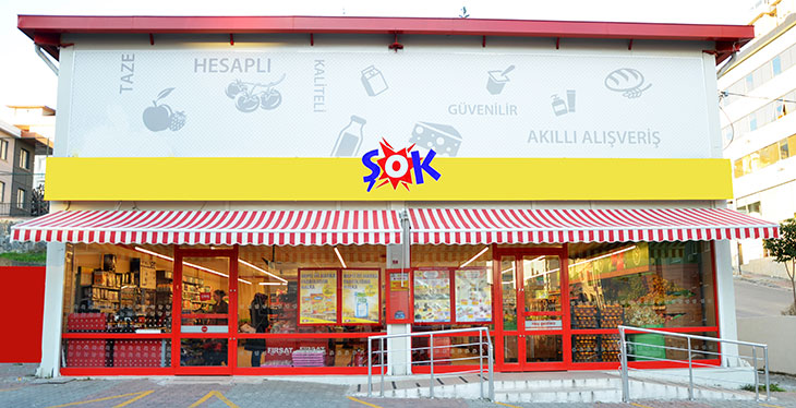 "Şok Marketler meets nearly all customer needs in a ""one-stop shop"" concept at a sales point located near consumers' homes, with 7,215 stores, 27 distiribution centers and 30.000+ employees across Turkey's 81 proviences."